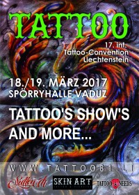 Tattoo-Convention Vaduz (FL) 18/19 März 2017